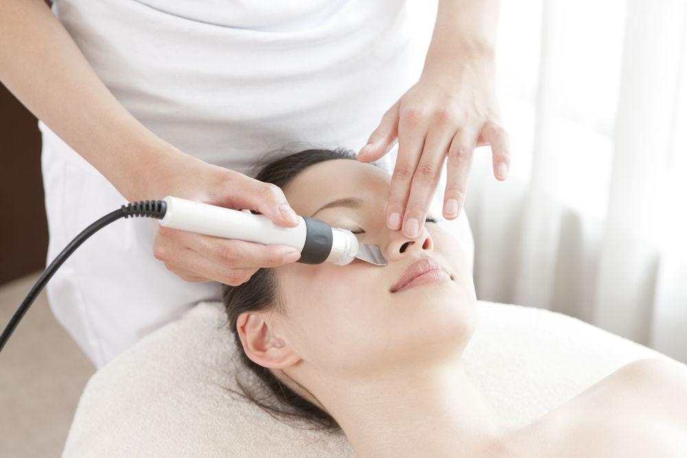 woman receiving a medical esthetic treatment
