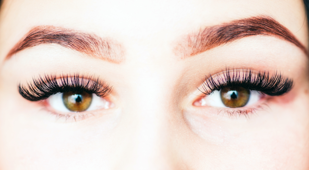 woman's face focused on eyes and eyebrows